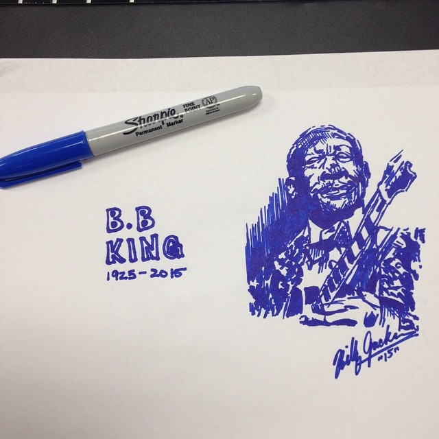 B.B. King by billyhjackson